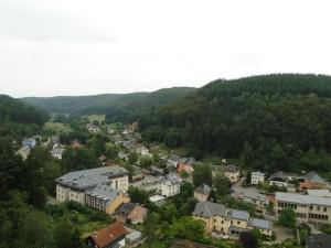 Larochette - Uitzicht vanaf het Kasteel van Larochette
