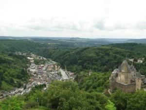 Vianden - Uitzicht vanaf het hoogste punt (stoeltjeslift)