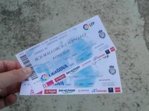 Voetbalkaartjes Real Mallorca - Valencia