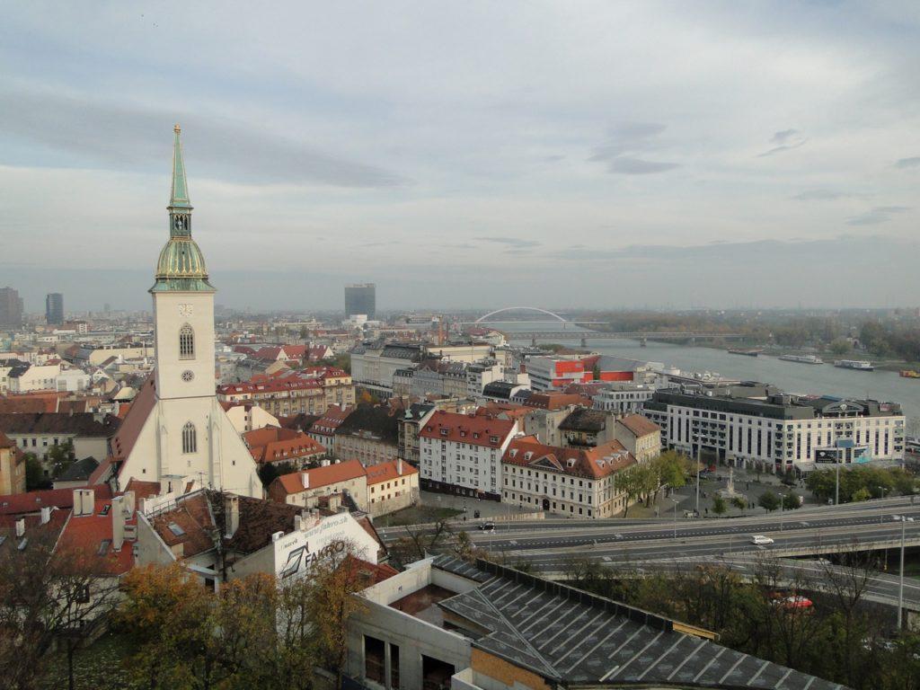 Oude centrum Bratislava (vanaf Kasteel)