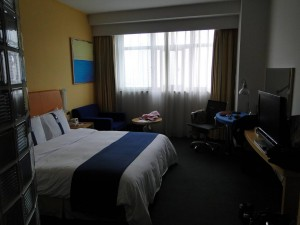 3 (3) Onze hotelkamer (Holiday Inn Express Zhabei)