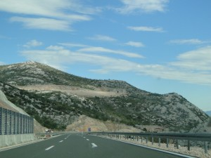 De nieuwe bergpas vlak voor Zadar