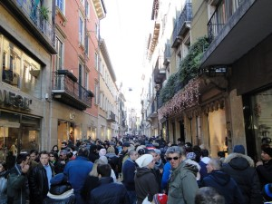 Drukte in Verona