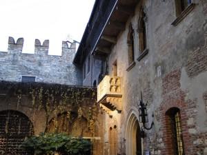 Het bekende balkon in Verona (Romea & Julliet)