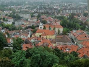 Uitzicht vanaf de Burcht over Ljubljana
