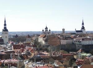 Tallinn - Uitizcht vanaf de  Oleviste Kirik