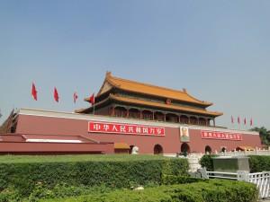 Toegangspoort Verboden Stad met portret van Mao Zedong