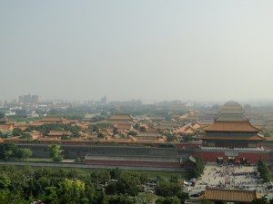Uitzicht vanaf de Warchu tempel over de Verboden Stad