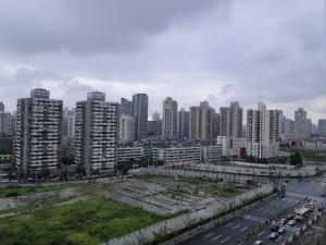 Uitzicht vanuit het Holiday Inn Express Zhabei Shanghai