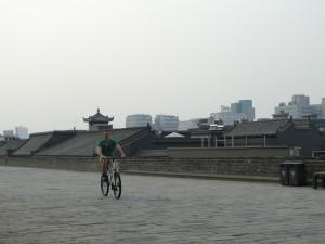 Xian - Fietsen over de stadsmuur