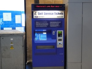 Engeland-self-service ticket machine
