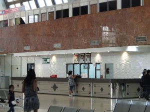 Loket van het Al Wahda busstation Abu Dhabi