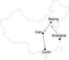 Reisroute-Shanghai-Beijing-Xian-Guilin
