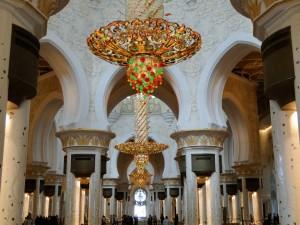 Abu Dhabi - Binnen in de Sjeik Zayed-moskee