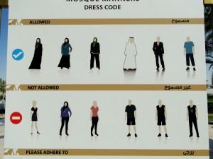 Abu Dhabi - Sjeik Zayed-moskee Dresscode