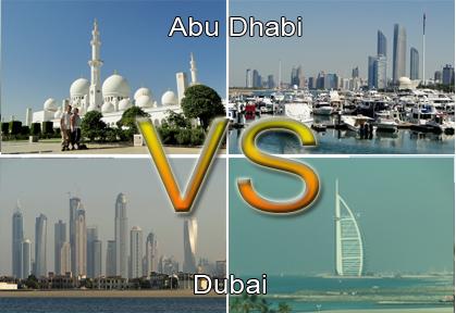 Abu Dhabi versus Dubai