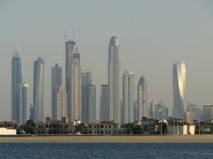 Dubai - Skyline vanaf het Palmeiland