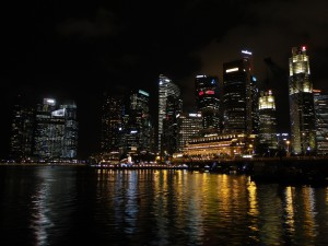 Singapore - Business District by Night