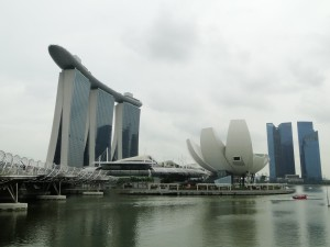 Singapore - Marina Bay Sands met de Helix Bridge
