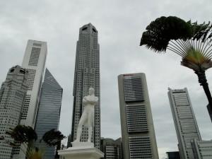 Singapore - Standbeeld Thomas Stamford Raffles - Raffles Landing Site