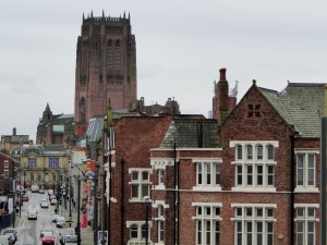 Anglican Cathedral Liverpool (kathedraal) - Buitenkant.