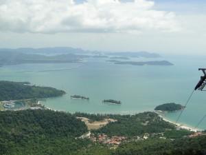 Langkawi - Uitzicht vanaf de top (kabelbaan)
