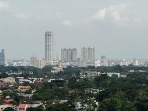 Penang uitzicht vanaf Kek Lok Si Tempel
