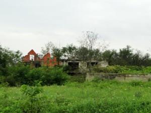 Kapotgeschoten huizen tijdens de oorlog