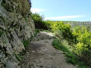 Herzegovina Blagaj - weggetje naar het punt waar je het mooiste zicht hebt