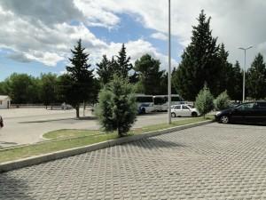 Herzegovina Kavice waterval - parkeerplaats