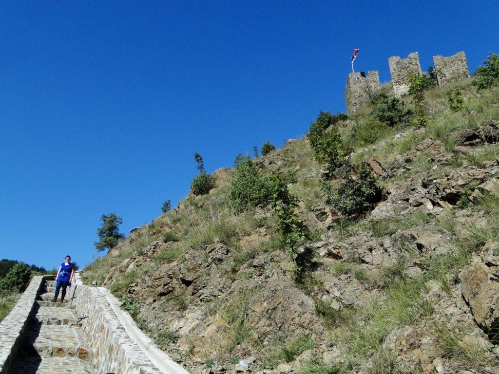 Maglic Fortress - middelste stuk van de klim
