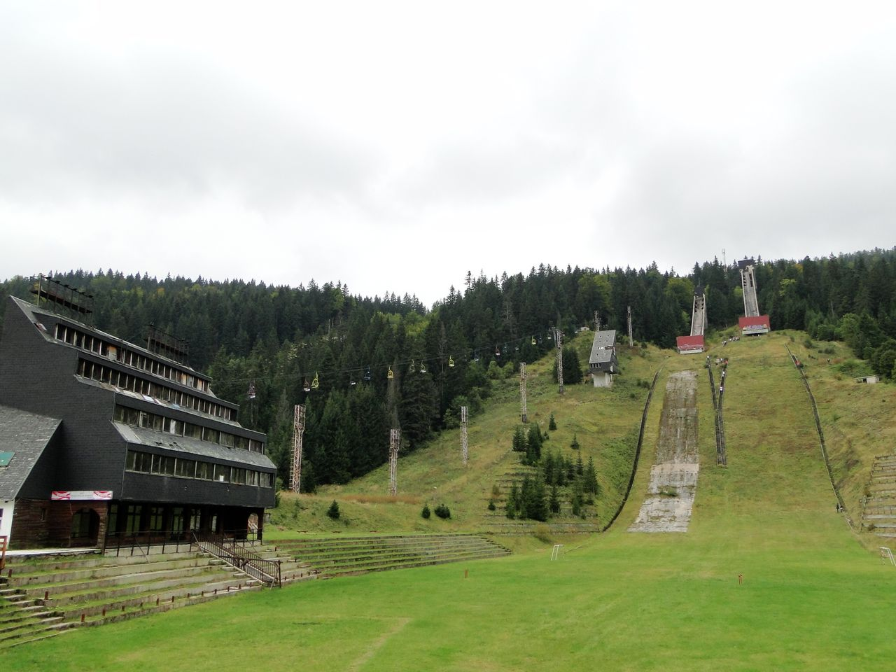 Sarajevo - abandoned places - Olympic Ski Jump