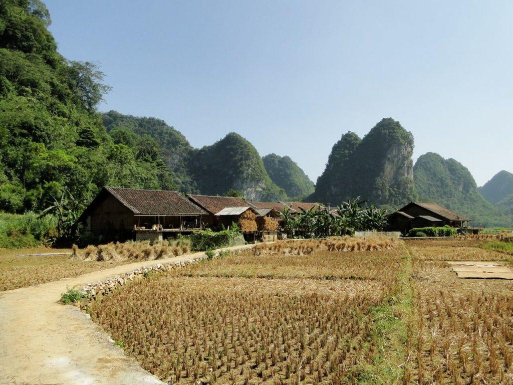 Vietnam (noordoosten) - Dorpje Wierrook
