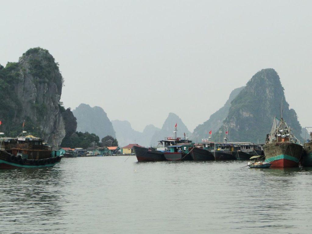 Vietnam (noordoosten) - Vissershaven in Cai Rong