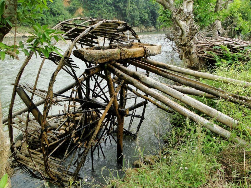Vietnam (noordoosten) - Waterrad