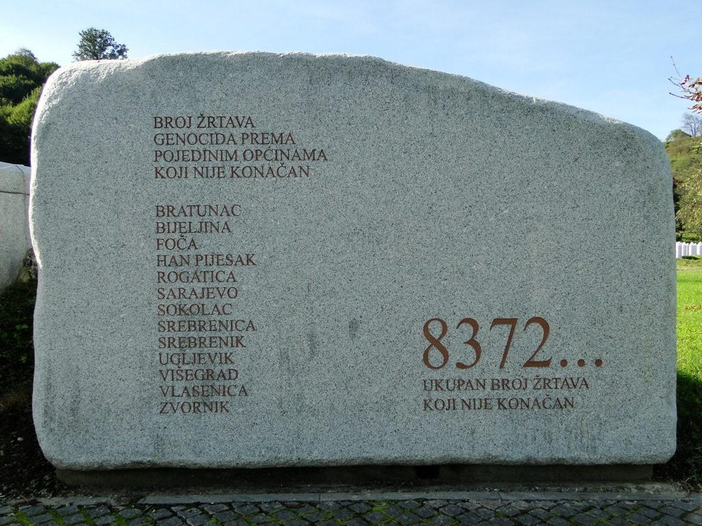 Potocari Gedenksteen (Bosnie Herzegovina)