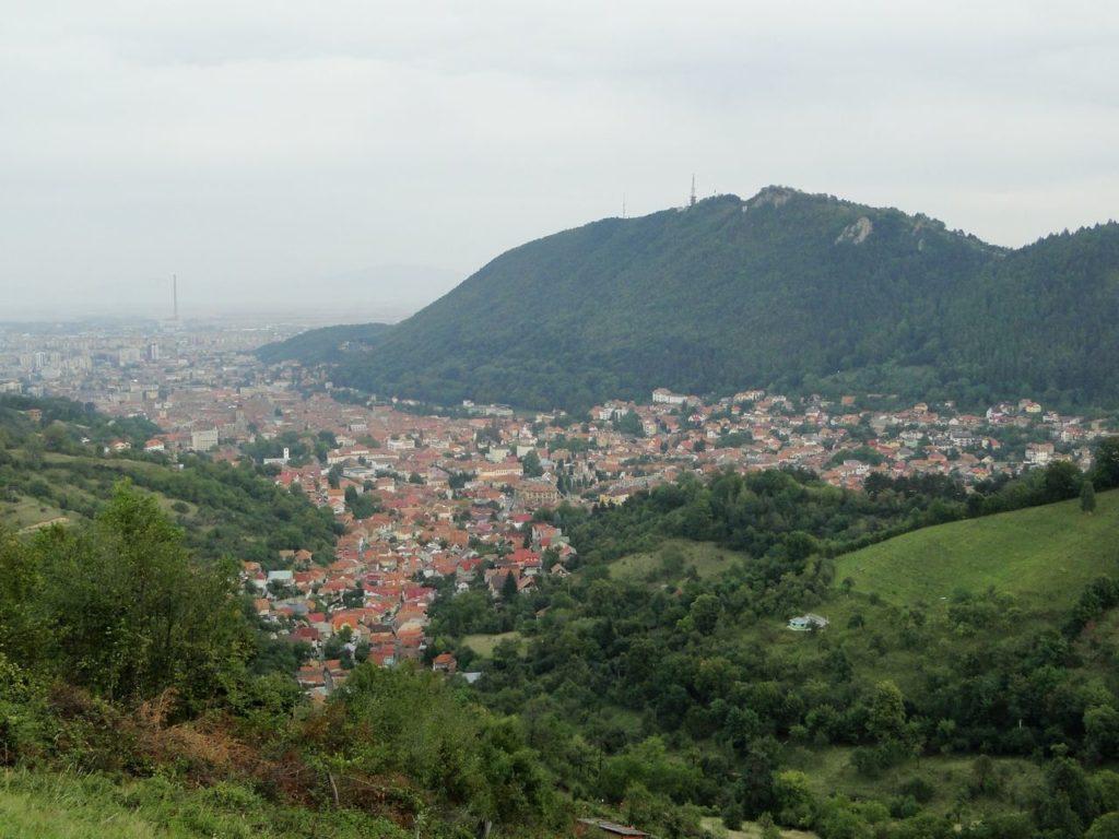 Roemenie Uitzicht Op Brasov (vanaf weg 1E)