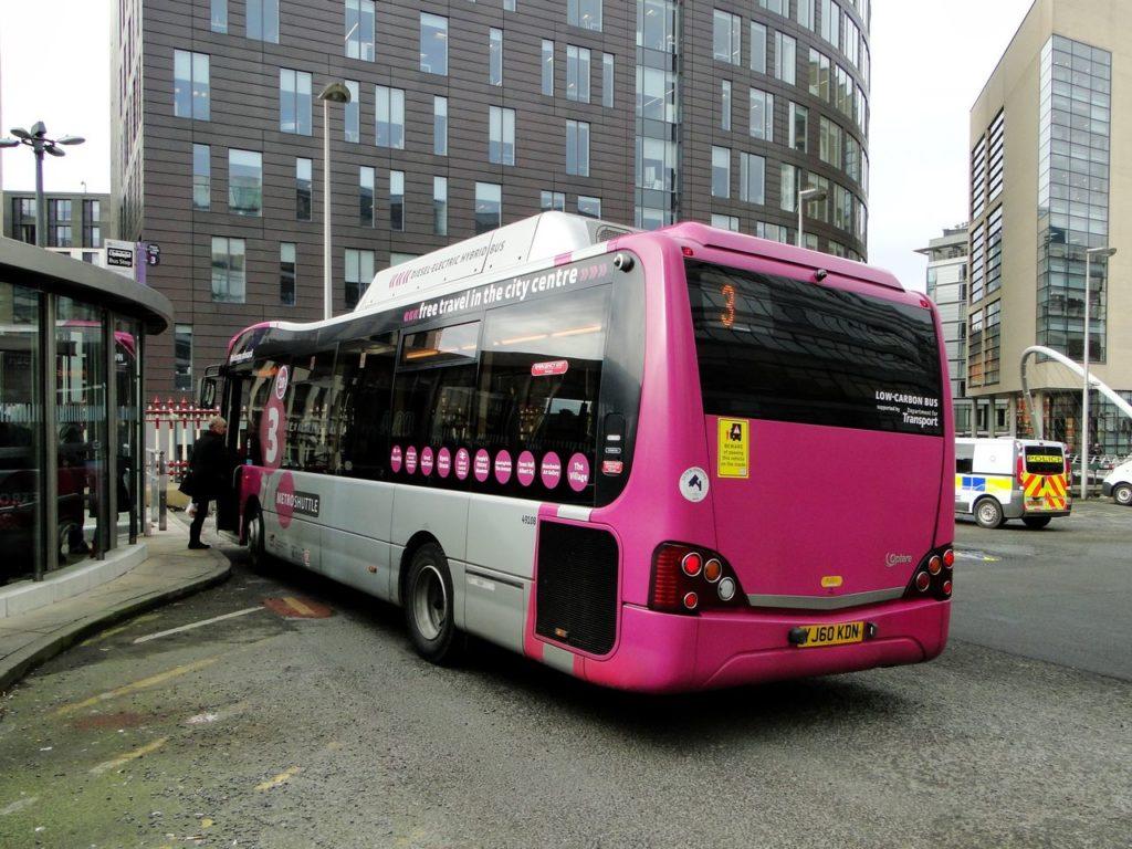 Manchester (Engeland) - Free bus Metroshuttle