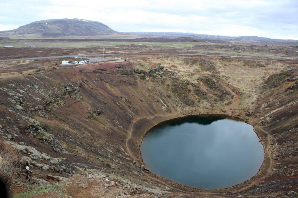 De Kerio vulkaan krater
