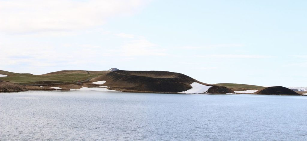 Pseudokrater bij het meer van Myvatn